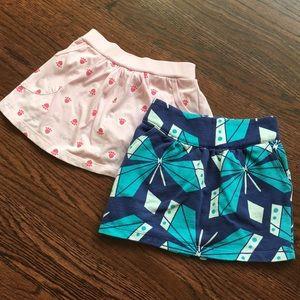 Girls 5-6 skirt and skirt-shorts